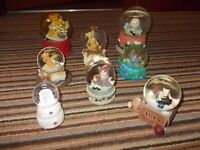 Collection Of 8 Bear Inspired Snow Globes