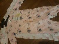 6-9 months girl's sleepsuits