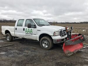 2006 Ford F-250 4x4  Diesel Pick up Truck with Boss V Plow