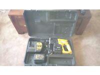 Used Dewalt DW005 SDS cordless three function drill set, GWO, see photos & details