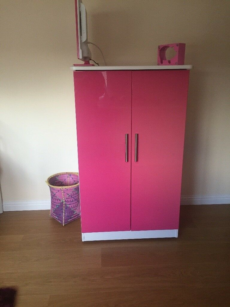 Girls Gillies Bedroom Furniture For Sale White With Pink High - Gillies bedroom furniture