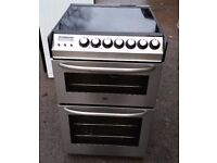ZANUSSI STAINLESS STEEL FREE STANDING 60cm ELECTRIC COOKER, 4 MONTHS WARRANTY