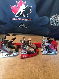 Variety of Junior Bauer Vapour Hockey Skates! 15.00 Each.
