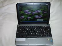 """Median Acoya Netbook Intel Atom 10"""" Screen, Zipad with DVD Writer, Wireless Mouse, Soft case all VGC"""