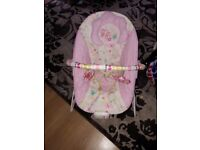 Girls Vibrating and sound baby chair