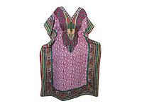 Kaftan Floral Print Kimono Sleeves Boho Maxi Caftan Dress