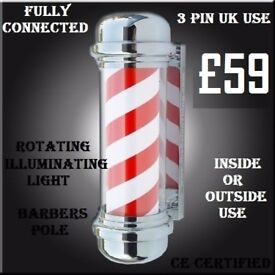 brand new - illuminating & rotating barber pole High Gloss Salon Reception Nail Manicure Desk