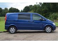 MERCEDES VITO 116 CDI COMPACT DUALINER 5 SEAT FACTORY CREW VAN 163BHP