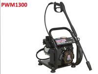 SEALEY PWM1300 PRESSURE WASHER 130BAR 420 LTR/HR 2.4HP PETROL