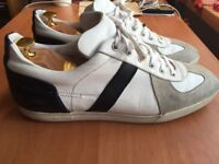 Luxurious Dior Homme B01 mens white calfskin trainers, 43 / uk9, rrp £460