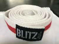 Blitz Red Stripe Karate Grading Belt