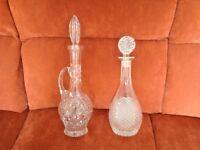 2 X Stunning Cut Glass Decanters