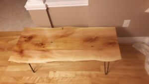Live Edge Sycamore Coffee Table #1