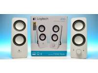 Logitech Z200 Speakers - White