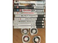Selection of psp games and movies for £10