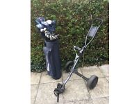 Howson Golf clubs and trolley
