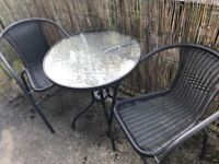 Bistro table with matching Chairs