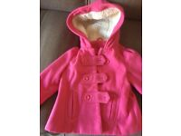 Girls Nutmeg fleece coat