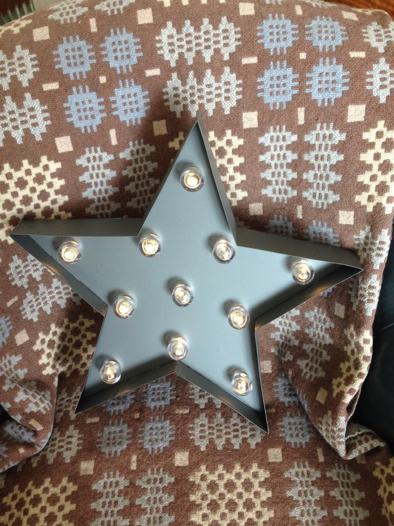 RETRO FUNKY INDUSTRIAL CHIC GREY METAL 11 LED BULB BATTERY STAR LIGHT NEW WITH BOX (3 available)