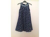 Girls blue dress age 8-9