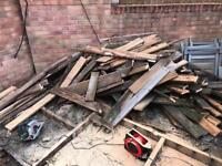 Approx 60x approx 2-3ft Cut wood decking