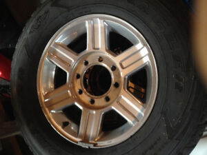 2012 Dodge 3500 factory rims and tires