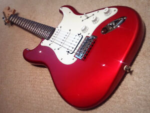Fender Squire HSS Strat Affinity - Candy Apple Red - $165