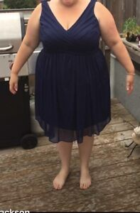 Size 20 bridesmaids dress (navy)