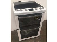 Zanussi ZCV667MWC 60cm Ceramic Electric Double Cooker in White