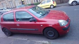 only £349 Clio 2004, 3 months MOT drives great - selling cos bought big car - 36-50 miles/gallon