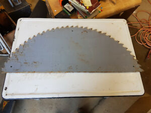 1/2 of antique saw blade ready for sign