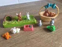 Vintage littlest pet shop bunny set