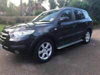 Hyundai Santa Fe cdx + petrol automatic 7 seater 2007 lady owner,leather,dvd p-ex welcome aa/rac