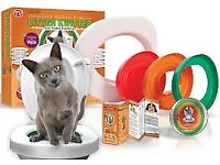 Litter Kwitter (unused in box) - Train your cat to use the toilet! No more cat litter!