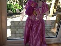 Rapunzel dress and matching bag 5-6