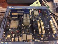 MEDIA SERIES DP35DPM+ MOBO, I/O PLATE, CORE 2 DUO 6300 1.86GHz CPU, XP120 ETC.