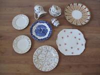 Pretty Mix n Match China - Ecclectic vintage wedding/tea/party, inc. Davenport Plate! Quick Sale
