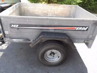 Erde 142 trailer, lined bed, working lights, spare tyre and cover included