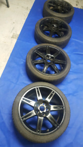 "18"" black rims for Honda Civic and Mitsubishi etc..."