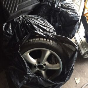 4 Mercedes 17 inch Mags and Tires 5 x 112 fits C CL CLK E S c