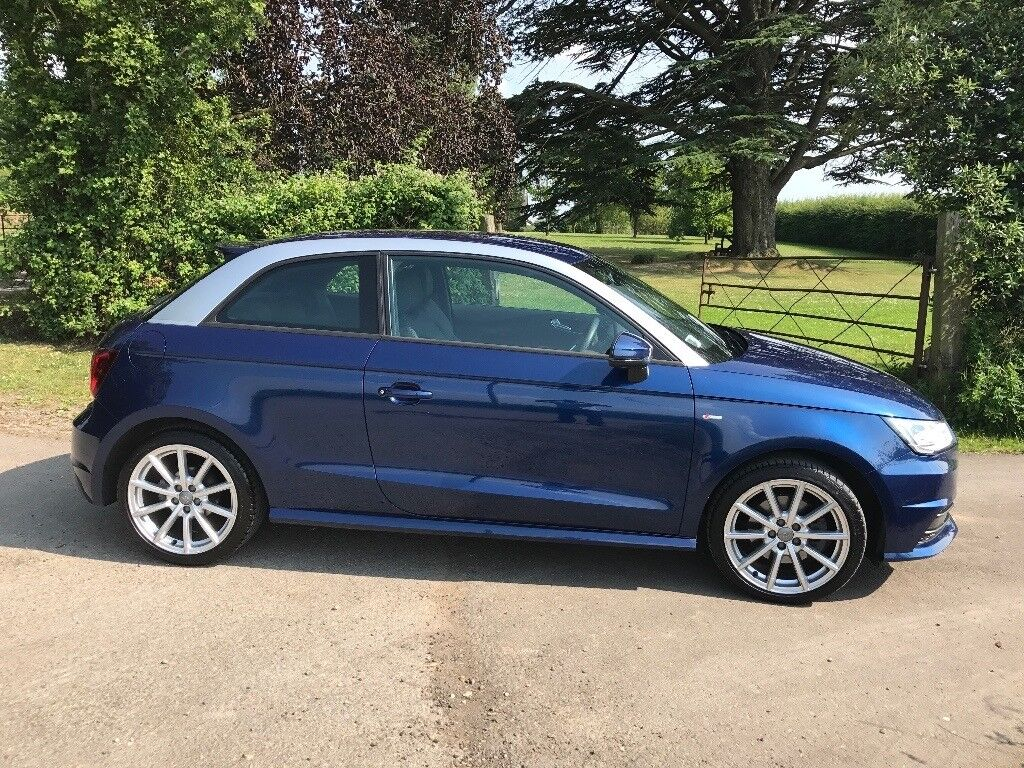 audi a1 s line 1 4tfsi scuba blue silver accents 14k miles 1 lady owner fsh in chepstow. Black Bedroom Furniture Sets. Home Design Ideas