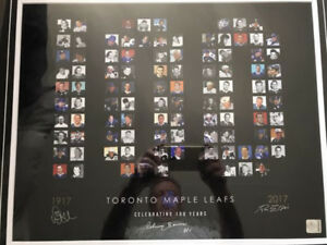 Toronto Maple Leafs top 100 players framed