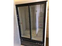 large double catering fridge and single coca cola fridge