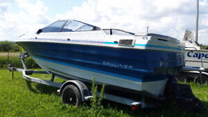 project boat and priced to sell! 19' Bayliner Capris Bowrider 3L
