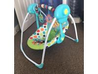 Portable baby swing bouncer