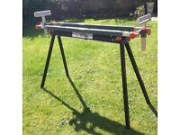 Portable folding tool bench