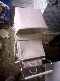 Kids silver cross pram for sale few odd marks on the bag will come off with a wipe.. good condition