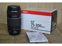 Canon EF 75-300mm III Lens for Digital EOS SLR Cameras - Boxed