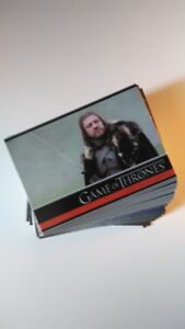 Game of Thrones Season 1: Complete Base Set of 72 Cards / Cartes