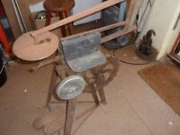 Old Vintage machinery.... fret saw... collectible..... garden ornament.